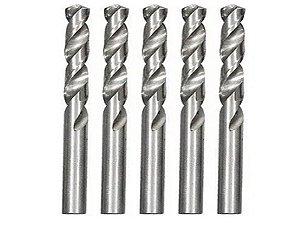 Broca De Aço Rápido Para Metal 11 Mm Polida 5 Pçs MTX