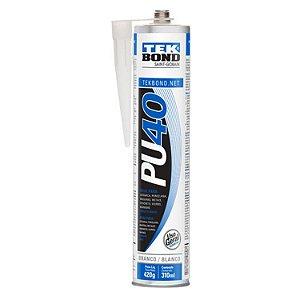 Cola Branca Silicone Pu 40 Adesivo Cuba Vidro 420g