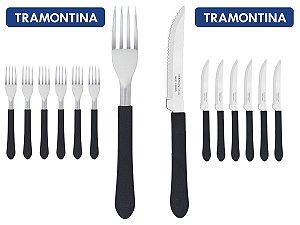 Kit Restaurante 16 Talheres Tramontina 8 Facas + 8 Garfos
