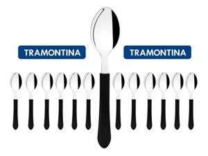 Kit Restaurante 18 Talheres Colher Tramontina Buffet + Nota