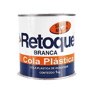 Massa Cola Plastica Branca Super Macia Retoque 1Kg