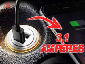 Carregador Celular Veicular Carro Turbo 2 Usb 3.1 Branco