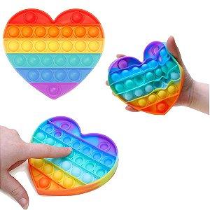 Pop-it Fidget Toy Empurre Bolha Coração Autismo Anti Stress