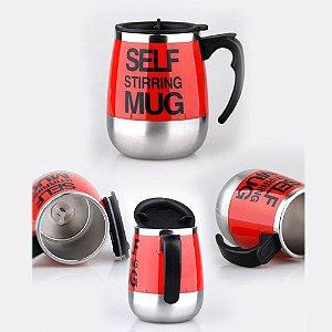 Caneca Misturador Automático Mix 450ml Stirring Mug Vermelho