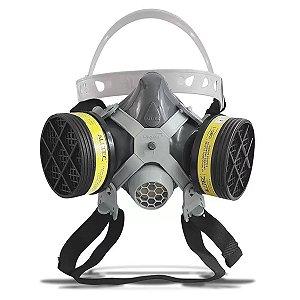 Máscara Respirador Facial C/ Filtro P/ Pintura Ga/vo Alltec