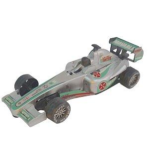 Carrinho Corrida Formula Piloto Brinquedo Prata BF111020
