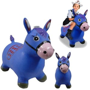 Cavalinho Musical Borracha Upa Upa Brinquedo Azul
