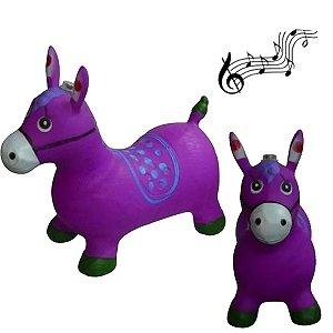 Cavalinho Musical Borracha Upa Upa Brinquedo Roxo