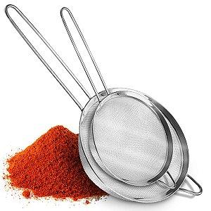 Kit Com 2 Peneiras De Inox Utensílios De Cozinha