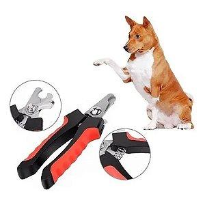 Alicate Cortador De Unhas Cães Gatos Medio Pet + Lixa Vermelho