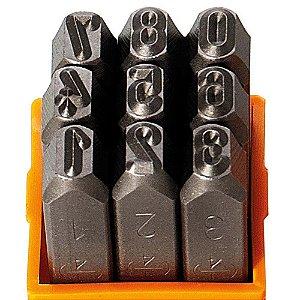 Algarismo para Gravação 4mm Punção Starfer 09 Peças