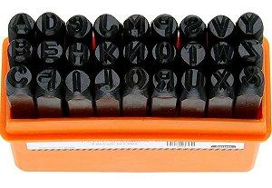 Alfabeto para Gravação 6mm Punção Starfer 27 Peças