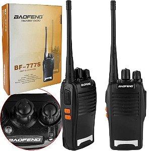 Rádio Comunicador Baofeng 16 Canais BR777S VHF/UHF c/ Fone
