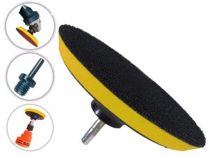 Base de Disco de Lixa Velcro 150mm x M14 e Adaptador