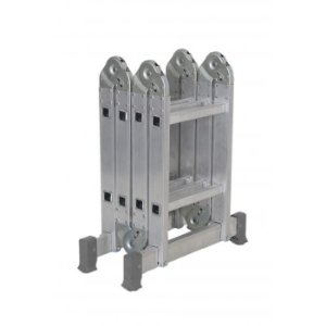 Escada Articulada Em Alumínio Multifuncional 4x2 Com 13 Posições De Uso