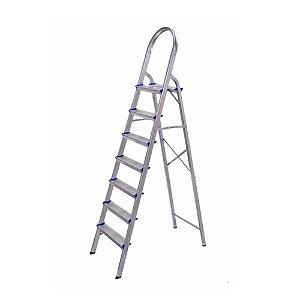 Escada Doméstica 6 Degraus Alumínio 120Kg