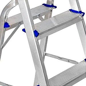 Escada Doméstica 6 Degraus Alumínio 120Kg Patamar