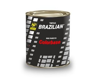 Tinta Base Poliéster Prata Metal 900ml Brazilian