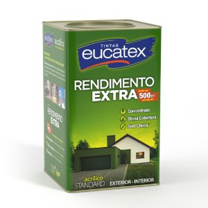 Tinta Acrílica Eucatex Rendimento Extra 18L Branco