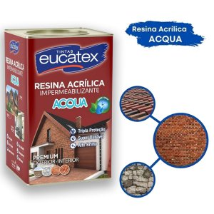 Resina Acrílica Premium Base Água Eucatex 18 Litros Incolor