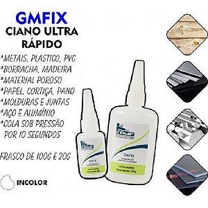 Cola Adesivo Instantâneo Ultra Rápido GMFix 100g