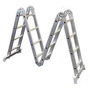 Escada Articulada Em Alumínio 4x4 Com 13 Posições De Uso