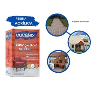 Resina Acrílica Premium Base Solvente Eucatex 18 Litros Incolor