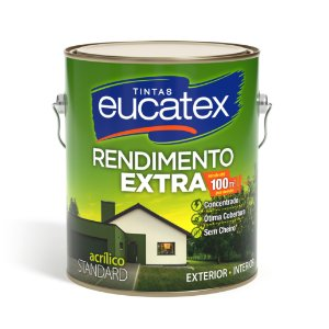 Tinta Acrílica Eucatex Rendimento Extra 3,6L Bianco Sereno