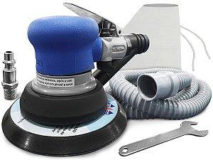 Lixadeira Pneumática Orbital C/aspirador Pó Base Lixa 6