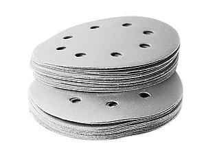 10 Disco Lixa Velcro #100 Branca P/Lixadeiras Orbitais 125mm