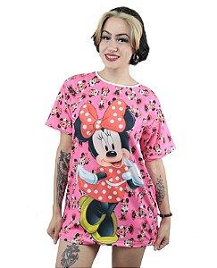 Camiseta T-Shirt Feminina Minnie Mouse Rosa