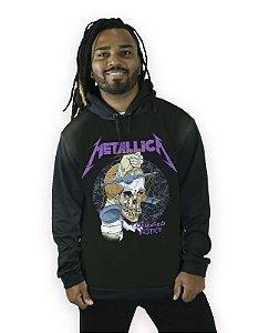 Blusa de Frio com Capuz Banda Rock Metallica