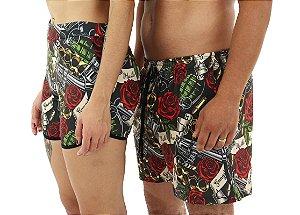 Kit Mozão Shorts + Bermuda Armas e Rosas