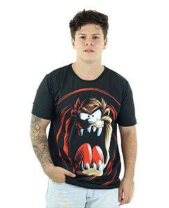 Camiseta Masculina Longline Oversized Taz Looney Tunes