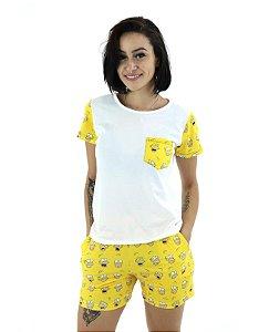 Pijama Feminino Short Doll Os Simpsons