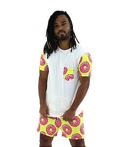 Pijama Masculino Curto Estampa Rosquinha Simpsons