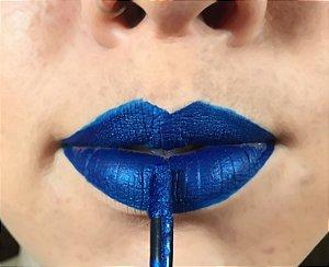 Batom Liquido Metalico Ricosti - Cor Blue - 4,5 ml