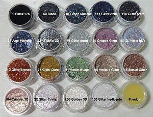 Pigmentos Asas de Borboletas Glitter Bitarra Beauty