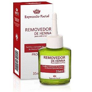 Removedor de Henna Para Sobrancelha Expressão Facial