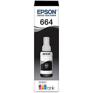 Refil de Tinta Epson 664 T664120 Preto C/70 ml
