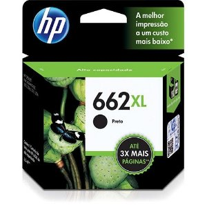 Cartucho Original HP 662 XL Preto - CZ105AB