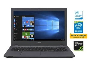 NOTEBOOK INTEL COM TECLADO NUMERICO ACER  NXGASAL002 E5-574G-574L CORE I5 6200U SKYLAKE 8GB 1TB WIN10 NVIDIA GEFORCE 920M 2GB 15.6 LED USB 3.0 VGA HDMI GRAFITE