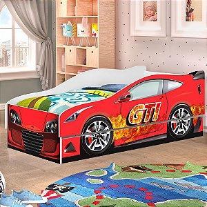 Cama Carro Solteiro Racer com Auxiliar Planet Baby