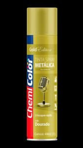 spray chemicolor metalica dourada 400ml