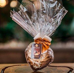 Coração de Chocolate - café com laranja -