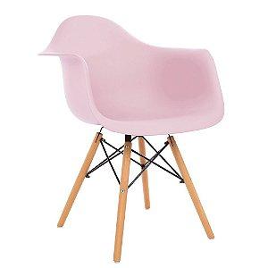 Cadeira Eames com Braço Rosa
