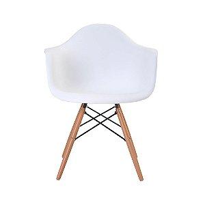 Cadeira Eames com Braço Branca