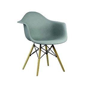 Cadeira Eames Com Braço Cinza