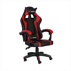 Cadeira Gamer Hudson Vermelha e Preta