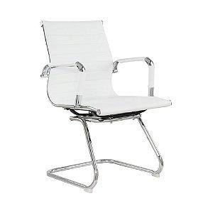 Cadeira Office Esteirinha Fixa Branca